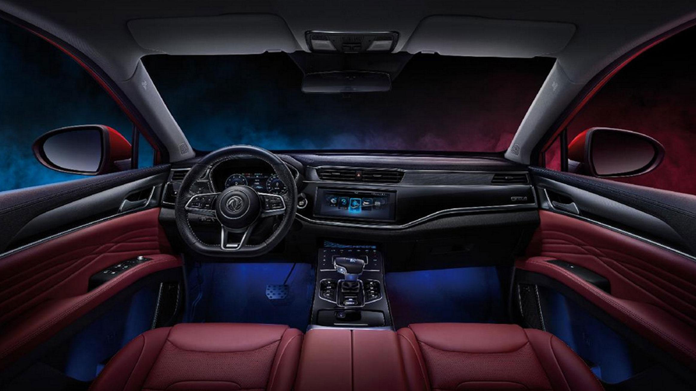 interior del suv dfsk ix5