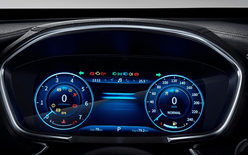 cuentakilometros tecnológico del SUV ix5 de dfsk